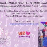 KINDERMUSIK WINTER WONDERLAND at Cafe O'Play