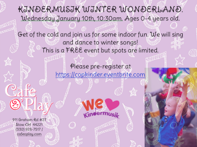 KINDERMUSIK WINTER WONDERLAND at Cafe O'Play