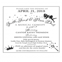 Cantor's Annual Concert- Faith, Trust and Pixie Dust