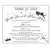 Cantor's Annual Concert- Faith, Trust and Pixie Dust