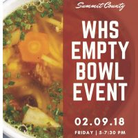 WHS Empty Bowl Event to Benefit Family Promise of Summit County