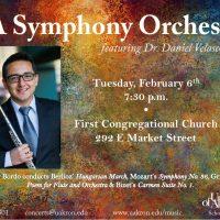 UA Symphony Orchestra with flutist Daniel Velasco