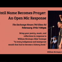Until Name Becomes Prayer: An Open Mic Response