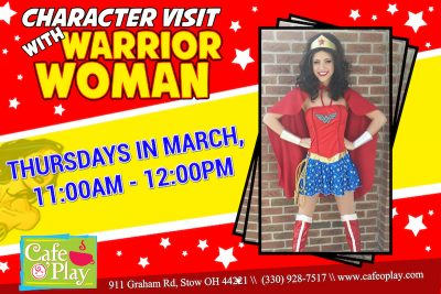 CHARACTER VISIT WITH WARRIOR WOMAN