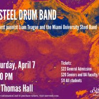 UA Steel Drum Band with Guests Liam Teague and the Miami University Steel Band
