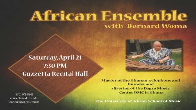 UA African Ensemble with Bernard Woma