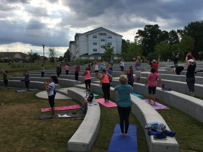 Free Fitness in the Park at Central Park Amphithea...