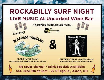 Seafoam Tsunami visits Uncorked Wine Bar