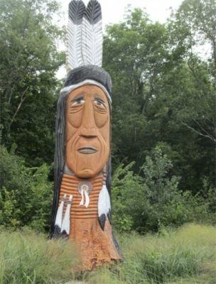 Chief Logan Statue