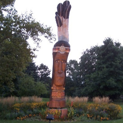 Chief Netawatwees Statue, Delaware Indians
