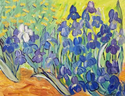 "Sip and Paint Van Gogh ""Irises"" at Wolf Creek Tavern 7-9pm"
