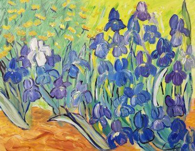 "Sip and Paint Van Gogh ""Irises"" at Wolf Creek Tavern 7-9pm"