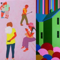 A Slice of American Life: People & Places featuring works by artists Lee Heinen and Diane Pribojan