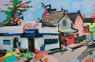 Neighborhoods at their colorful best through the eyes of Lizzi Aronhalt