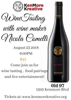 KenMore Kreative Wine Tasting with Nicola Comelli ...