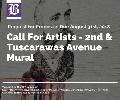 Call For Artists - RFP - Phase 3 of Downtown Barberton Mural Project