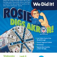 Rosie Digs Akron-Completes Her Journey!