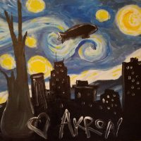 """Brushes and Brews """"Starry Night Over Akron"""" at Thirsty Dog Taphouse"""