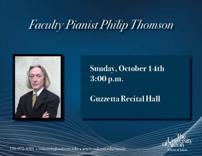 Faculty Pianist Philip Thomson