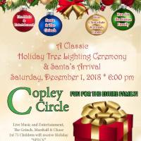 Copley Circle Tree Lighting & Santa's Arrival