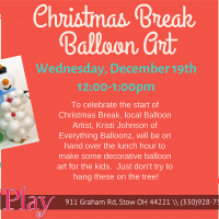 CHRISTMAS BREAK BALLOON ART!