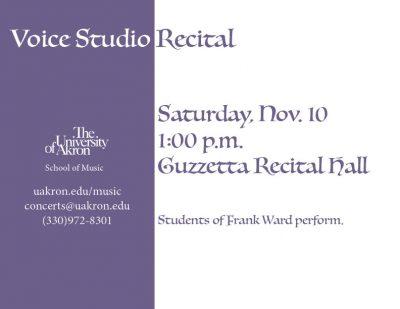 UA Voice Studio Recital