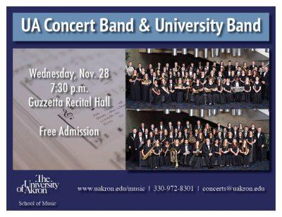 UA Concert Band and University Band