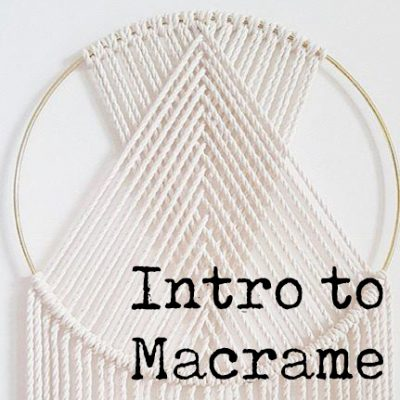 Introduction to Macrame' - Circle Wall Hanging