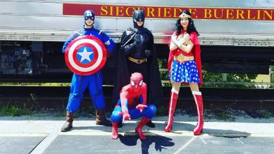Superheroes on the Train
