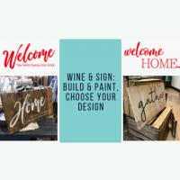 Wine and Sign: Build & Paint