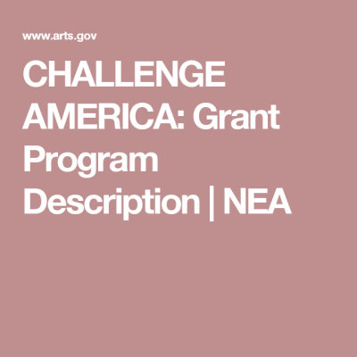 National Endowment for the Arts Accepting Applicat...