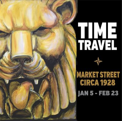 Time Travel Market Street Circa 1928 Mural and Exh...