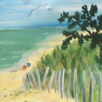 """Brushes and Brews at Thirsty Dog TapHouse: """"Walk to the Beach"""""""