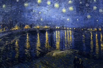 "Brushes and Brews at Thirsty Dog TapHouse: Van Gogh ""Starry Night over the Rhone"""