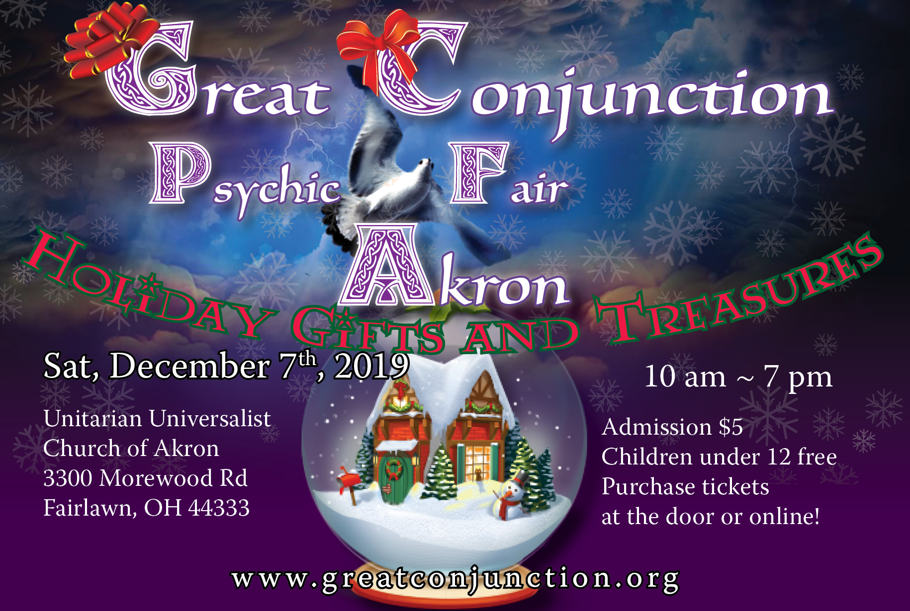 Great Conjunction Holiday Gifts & Treasures Psychic Fair