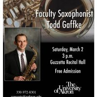 Faculty Saxophonist Todd Gaffke
