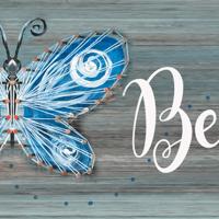 Butterfly String Art & Paint Sign - Sip & Paint Party Art Class