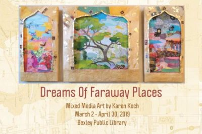 Dreams of Faraway Places, Mixed Media Art by Karen...