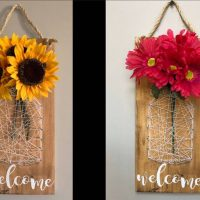 String Art & Painting Wooden Welcome Sign - Paint Party Class