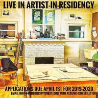 Live In Artist-In-Residence – Space Available