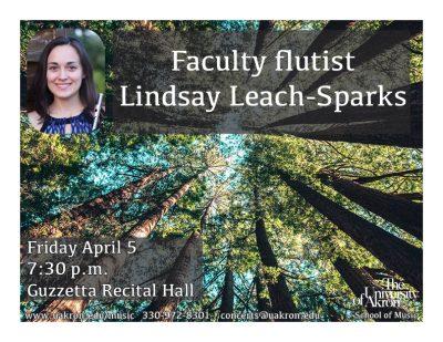 Faculty flutist Lindsay Leach-Sparks