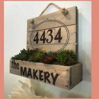 Address Planter Box