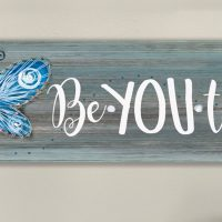 Butterfly String Art & Paint Sign - Sip & Paint Party Art Class