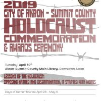 Akron-Summit Holocaust Commemoration and Awards Ceremony