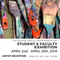 ARTIST RECEPTION: Student and Faculty Exhibition