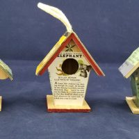 Golden Book Mini Bird House Craft