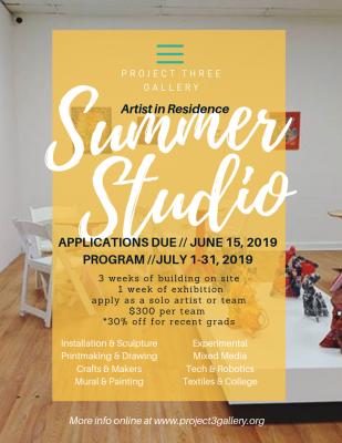 Call to Artist for Summer Studios Residency Progra...