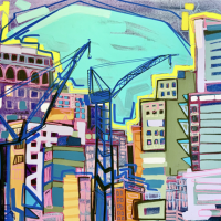 Painting New York & San Juan by Lizzi Aronhalt, July 19-Aug 31