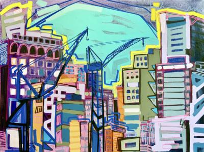 Painting New York & San Juan by Lizzi Aronhalt...