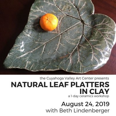 Natural Leaf Platters in Clay